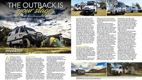Bus 4×4 featured in The Wanderer