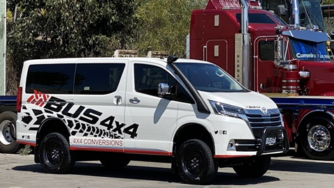 Bus 4×4 Conversion of Granvia in WA